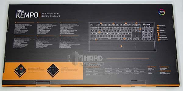 parte de atras caja teclado krom kempo