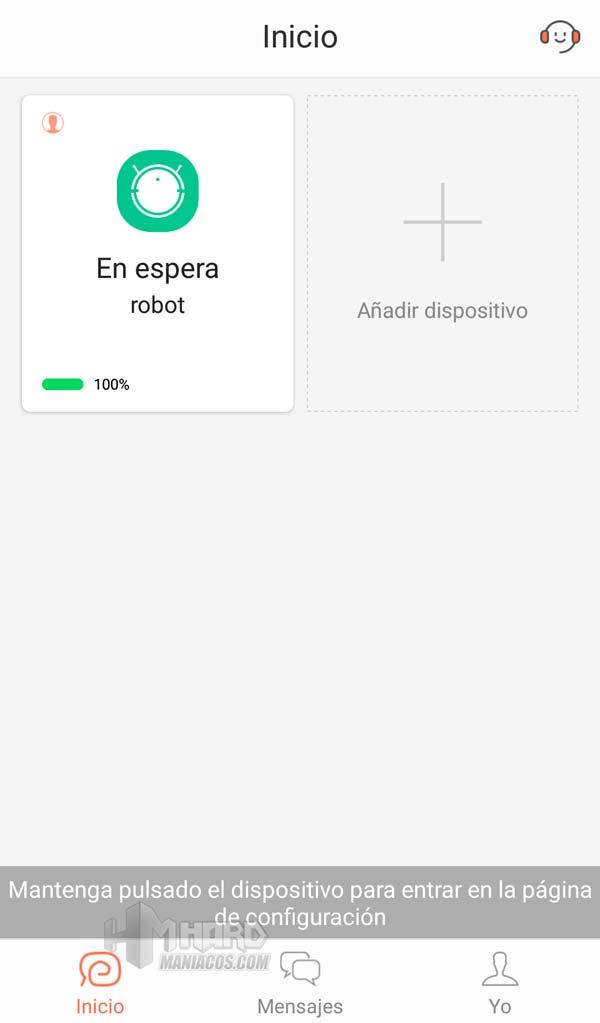 Inicio App Ikohs Netbot S14