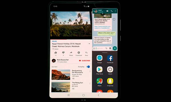 Galaxy Fold pantalla dividida
