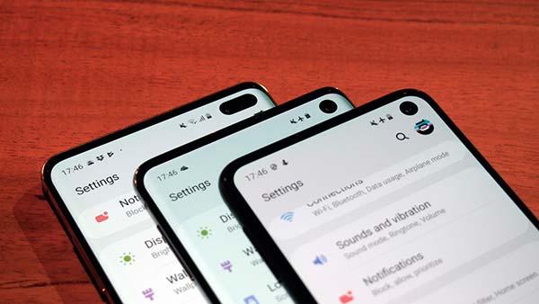 Samsung Galaxy S10 orificio camara frontal