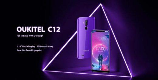oukitel c12, portada