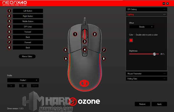 software Ozone Neon X40 Lightning