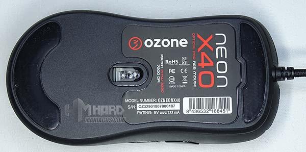 Ozone Neon X40 por abajo