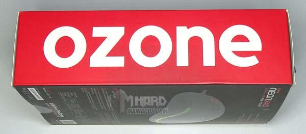 ozone x40, parte lateral caja