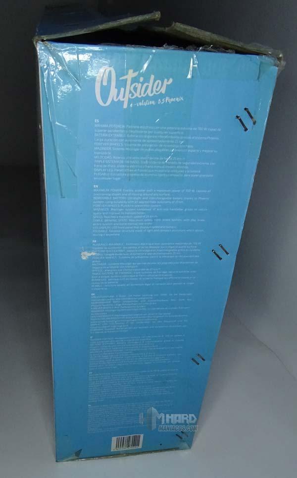 patinete outsider 8,5 phoenix, lateral caja