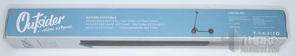 patinete outsider 8,5 phoenix, caja bateria