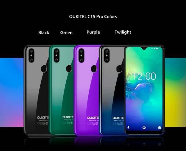 oukitel c15 pro, colores