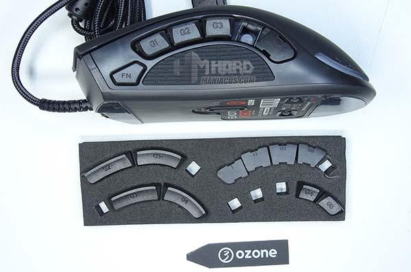 ozone exon x90 botones laterales del raton