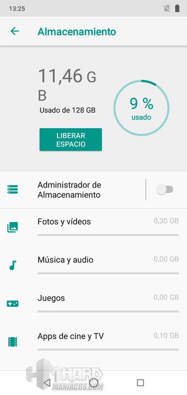 umidigi one max, almacenamiento