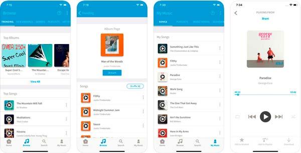 aplicacion freegal music para descargar música en iPhone