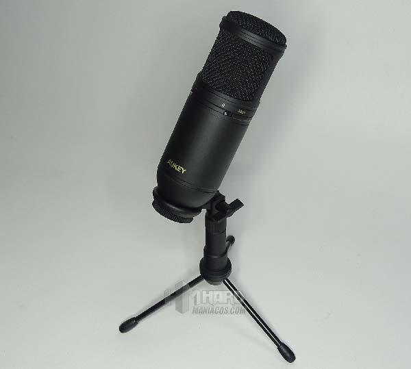 microfono condensador Aukey Mi-U2 en soporte
