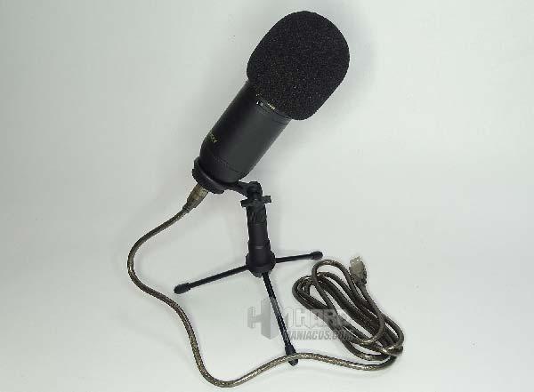 microfono Aukey Mi-U2 con filtro y soporte