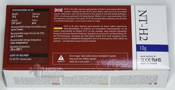 Noctua NT H2 10g caja detras