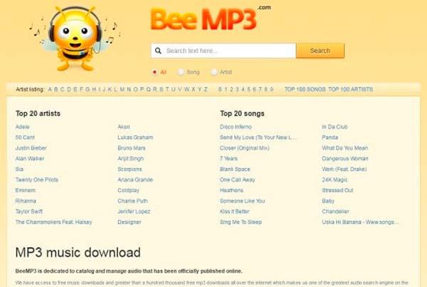 BeeMP3 descargar musica gratis mp3