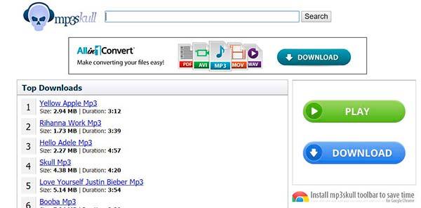 MP3Skull mejor pagina para descargar musica mp3 gratis