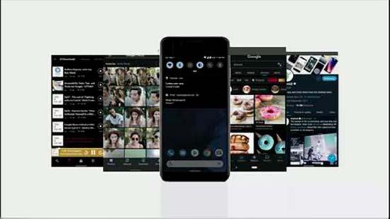 tema oscuro en Android 10