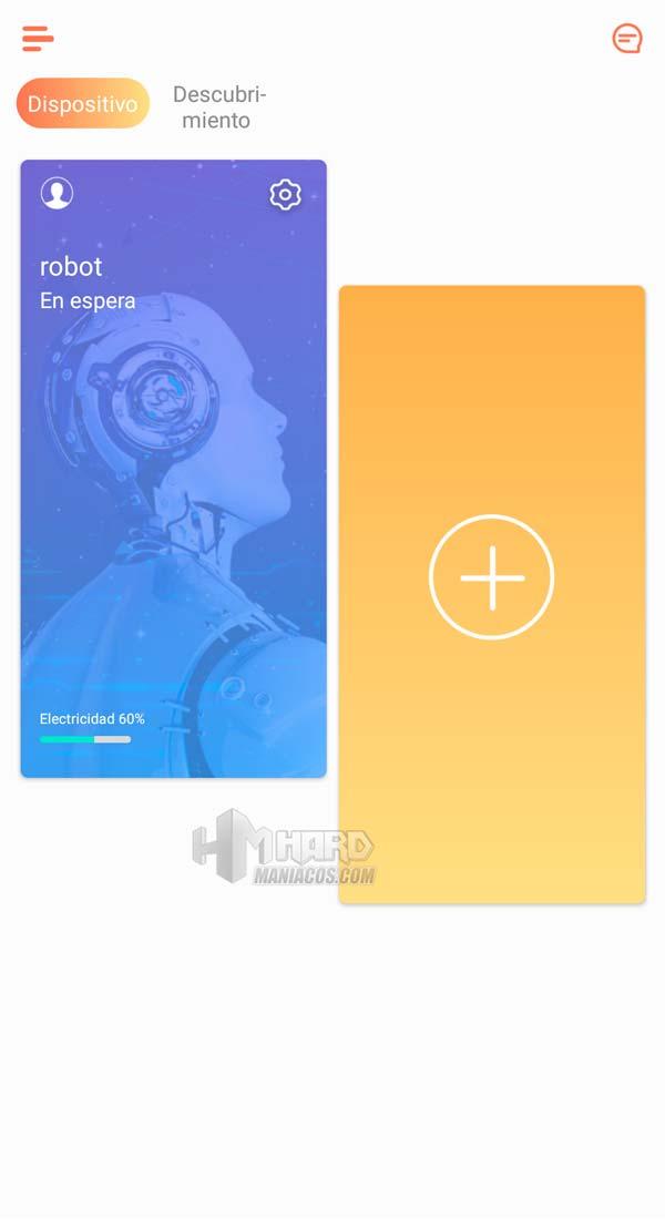 inicio app Ikohs Netbot S15