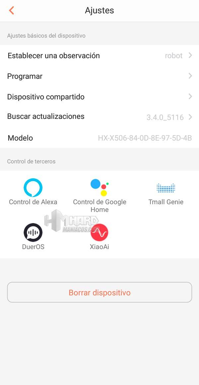 Ajustes app Netbot S15