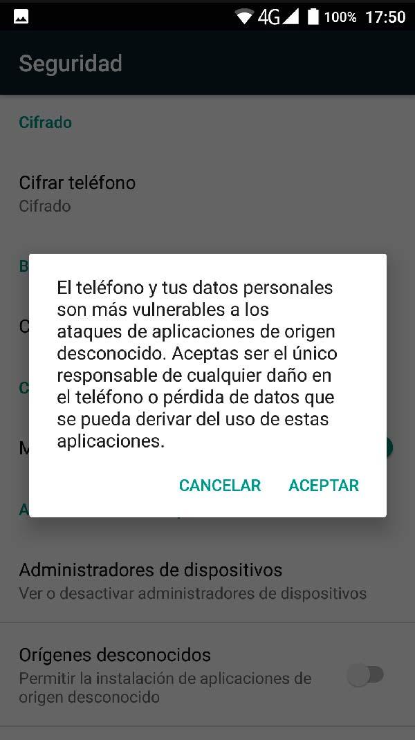 activar instalacion aplicaciones desconocidas