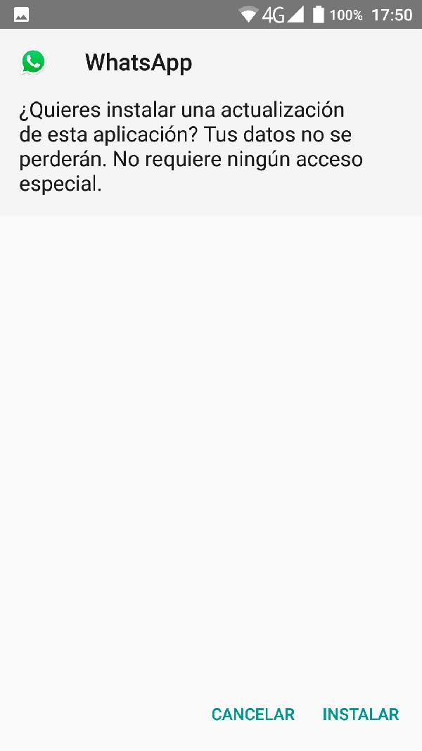ejecutar instalacion whatsapp