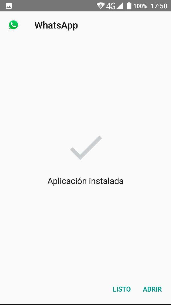 fin instalacion whatsapp