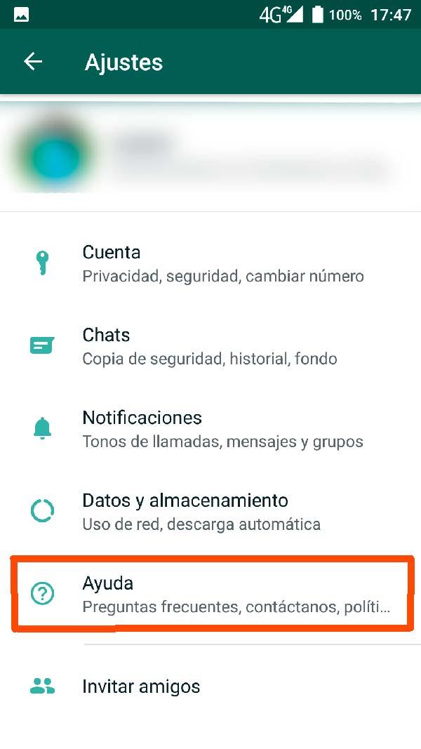 ayuda whatsapp