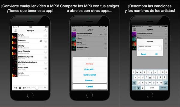 MyMP3 descargar musica videos iphone