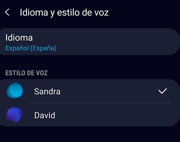configurar Bixby en español