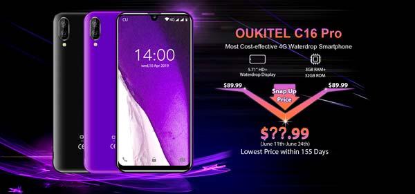 pantalla oukitel c16 pro