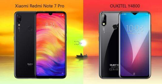 oukitel y4800 vs xiaomi redmi note 7 pro
