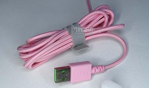 cable rosa USB razer basilisk