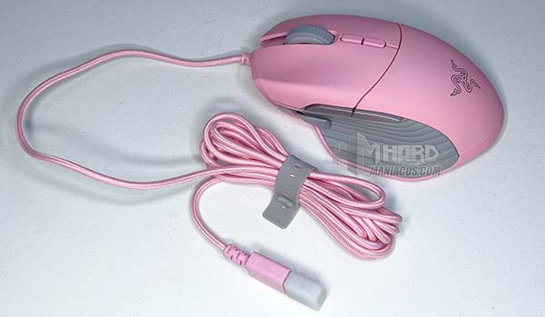raton Razer Basilisk Quartz Edition con cable USB