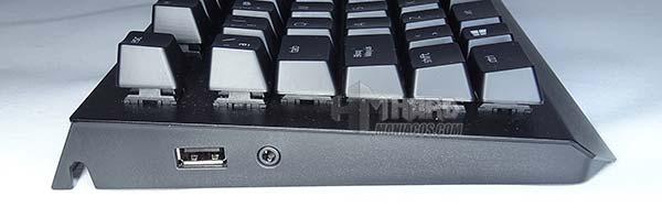 conectores laterales Razer BlackWidow Elite