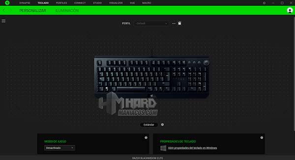razer synapse con teclado Razer BlackWidow Elite