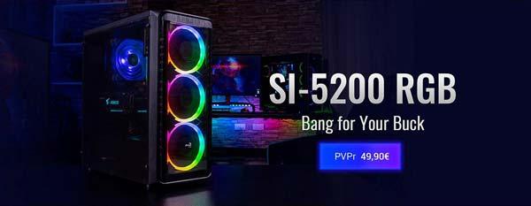 AeroCool SI-5200 RGB, Nueva Caja de ordenador con Tripe Iluminación
