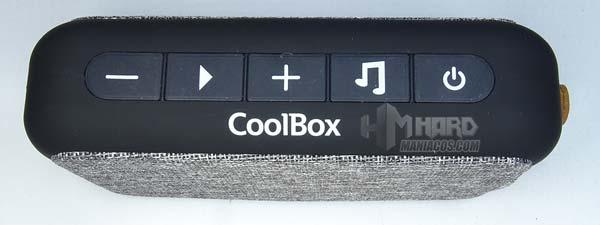 controles botones altavoz Bluetooth CoolBox CoolSoul