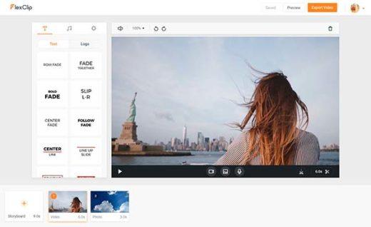 FlexClip editor de vídeo