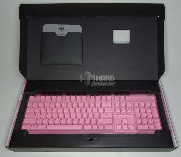 teclado razer Huntsman rosa en caja