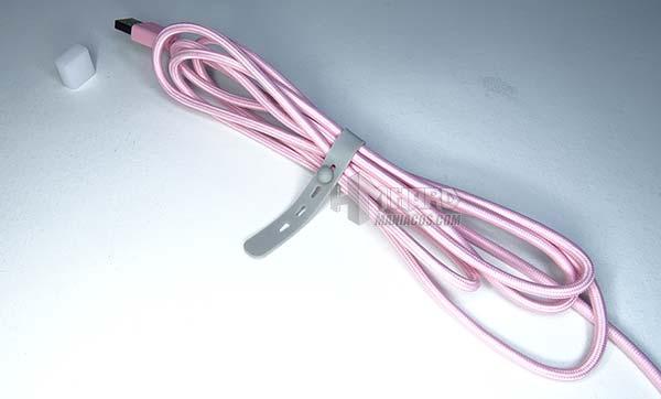 cable USB rosa razer huntsman