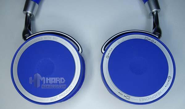 diseño exterior orejeras auriculares Bluetooth CoolBox