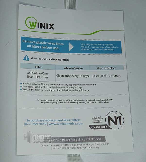 folleto filtro WINIX Tower QS