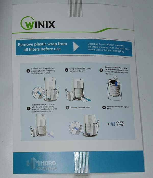manual colocacion filtro Tower QS