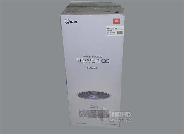 caja purificador WINIX TOWE QS lado blanco