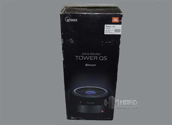 caja purificador WINIX Tower QS lado negro