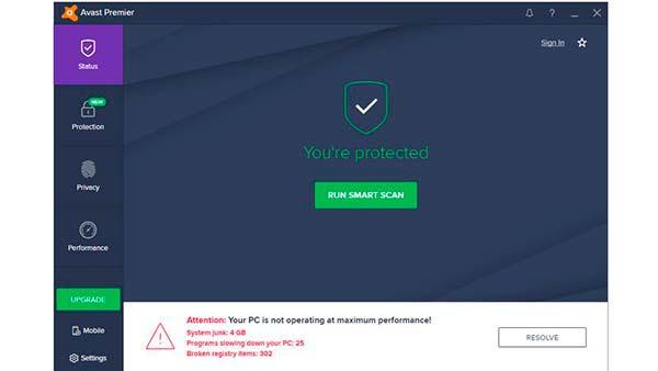 antivirus Avast Premier