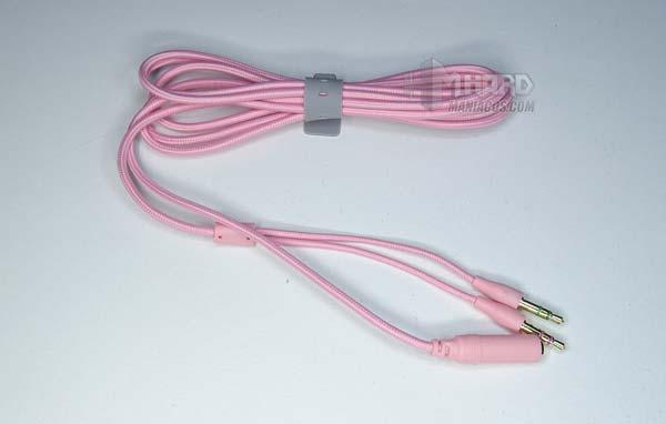 cable adaptador auriculares Razer Kraken Quartz Pink