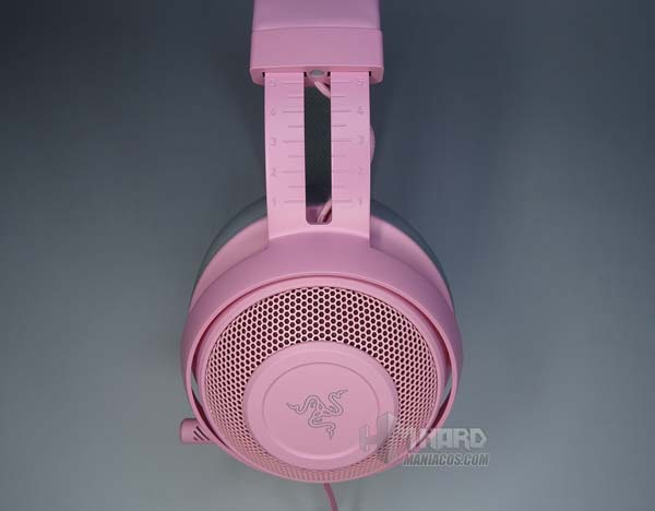 diadema lateral headset Razer Kraken Quartz Edition