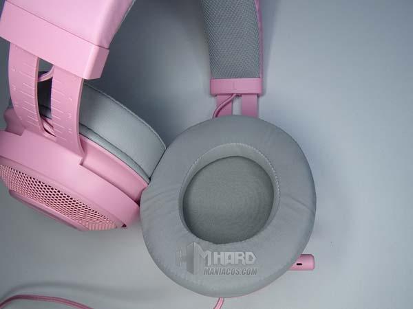 almohadilas orejeras audifonos Razer Kraken Quartz Pink