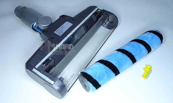retirar y cambiar cepillo rotatorio aspirador Conga