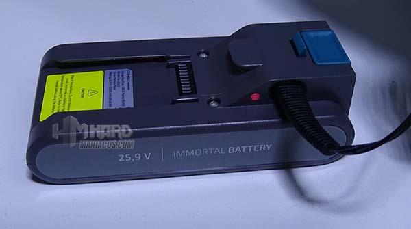 carga de bateria aspirador Cecotec Conga RockStar 300 Xtreme